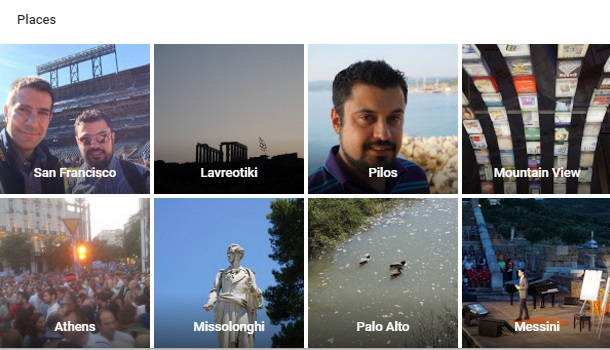 Google Photos search for places